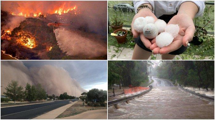 Foto & Video Cuaca Ekstrem di Australia 2020: Kebakaran Hutan, Hujan Es, Banjir Hingga Badai Debu