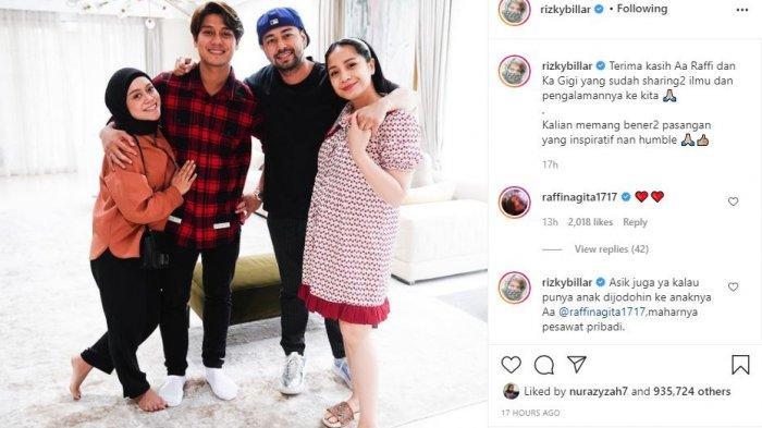 Kebersamaan Rizky Billar, Lesti Kejora dengan Raffi Ahmad dan Nagita Slavina