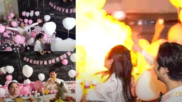 Kejutan Romantis Dewi Perssik untuk Angga Wijaya Berubah Petaka, Balon Meledak Timbulkan Kobaran Api