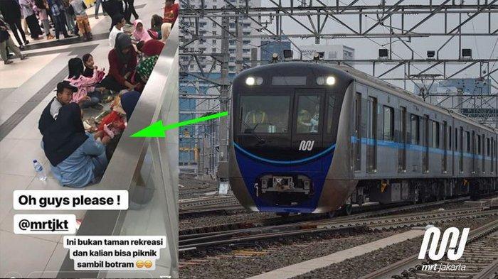Kelakuan Miris Penumpang MRT Jakarta, dari Gelar 'Piknik' sampai Gelantungan di Kereta