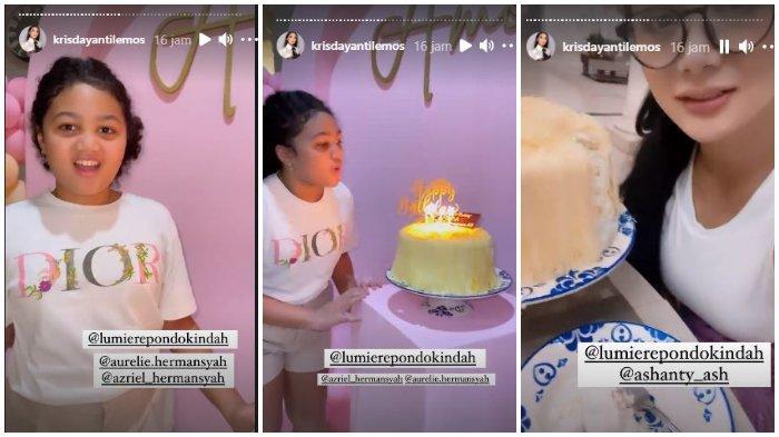 Keluarga Ashanty dan Anang Hermansyah kirimkan kue untuk ulang tahun Amora Lemos.