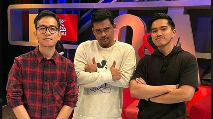 Gibran Rakabuming, Bobby Nasution, dan Kaesang Pangarep