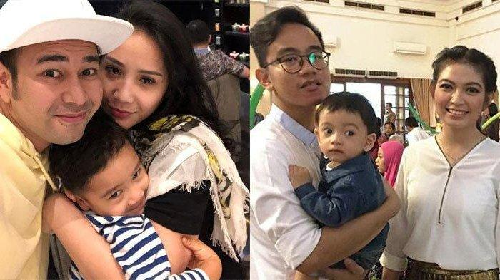 Kontras, Beda Gaya Keluarga Gibran Rakabuming & Raffi Ahmad saat Pose Naik Becak, Mana Favoritmu?