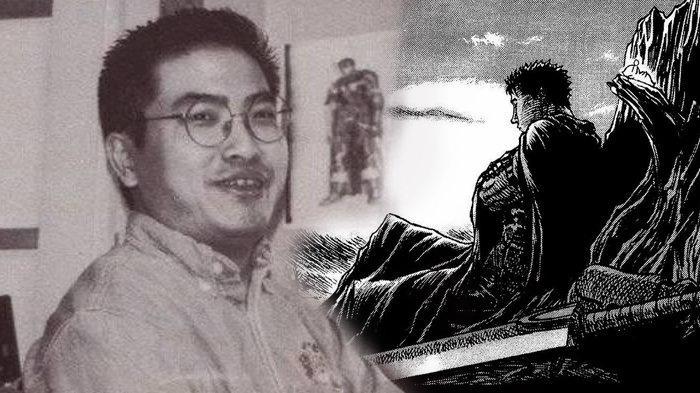 Kentaro Miura dan manga ciptaannya, Berserk.