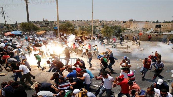 Kerusuhan antara Israel dan Palestina.