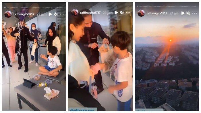 Keseruan Nagita Slavina dan Rafathar ikut Raffi Ahmad ke Turki.
