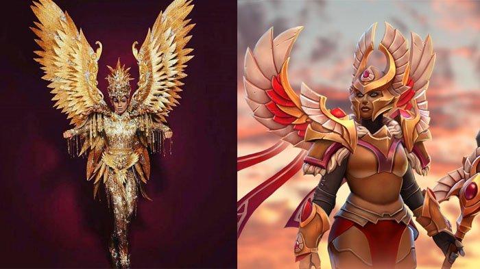 Kenakan Kostum Nasional Burung Garuda, Netizen Sebut Kezia Warouw Mirip Tokoh Dota Legion Commander