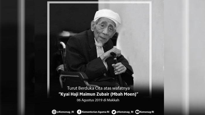 NU Berduka, KH Maimun Zubair Wafat, Jenazah Mbah Maimun Dimakamkan di Mekkah Setelah Salat Dzuhur