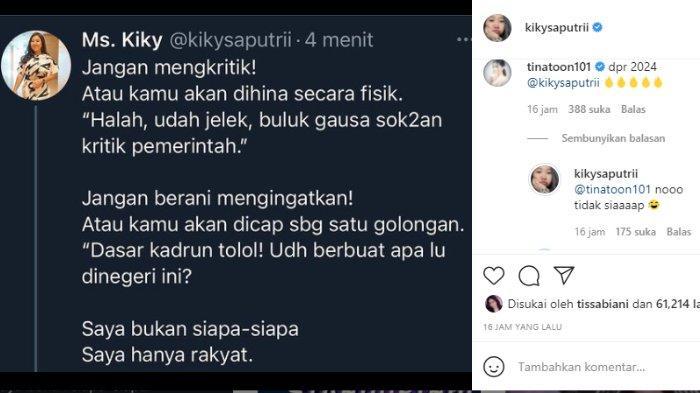 Kiky Saputri menanggapi bijak soal menyindir pemerintah lewat lagu 'Welcome to Indonesia'.