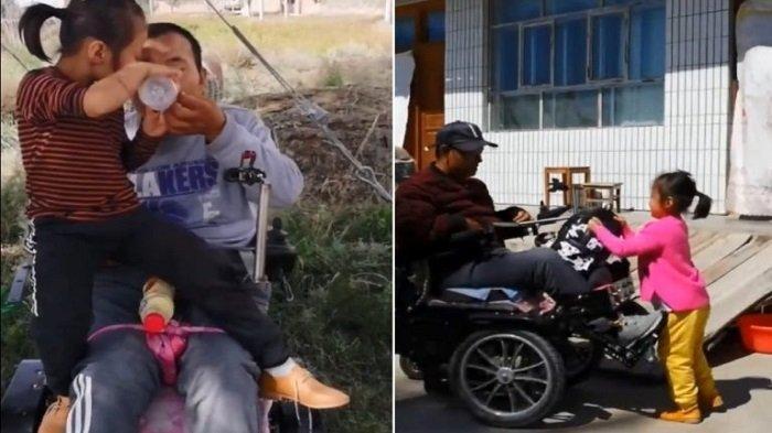 KISAH Gadis 6 Tahun Ditinggal Minggat Ibunya, Kuat Sendiri Merawat Ayahnya yang Lumpuh