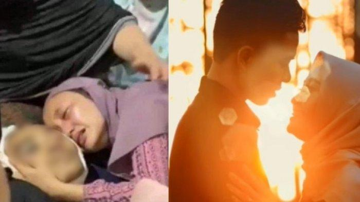 Kartini menangis histeris peluk jenazah suami