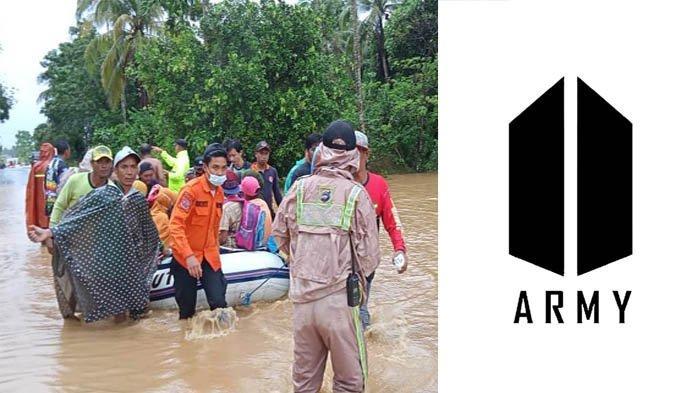 Akibat Banjir Kalsel Dan Gempa Sulbar, Fans BTS Indonesia 'ARMY' Akhirnya Turun Tangan