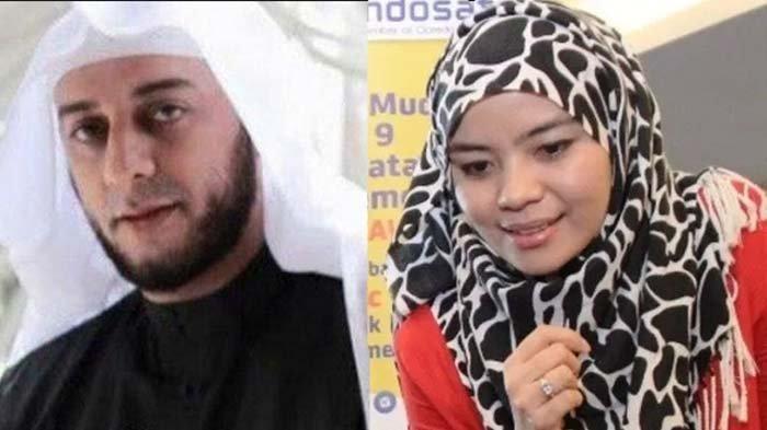Syekh Ali Jaber dan istri keduanya, Deva Rachman.