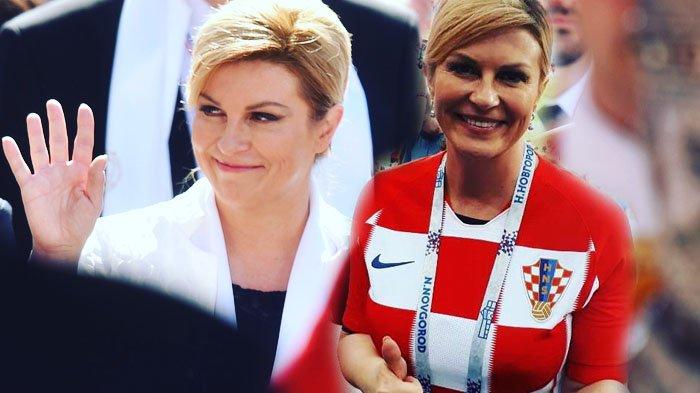 6 Potret Presiden Kroasia di final Piala Dunia 2018, Jadi Pemenang di Hati Banyak Orang!