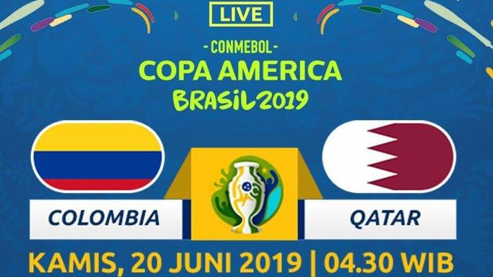 Jadwal dan Prediksi Kolombia vs Qatar Copa America 2019 Kamis dini Hari Jam 04.30 WIB Live K-Vision
