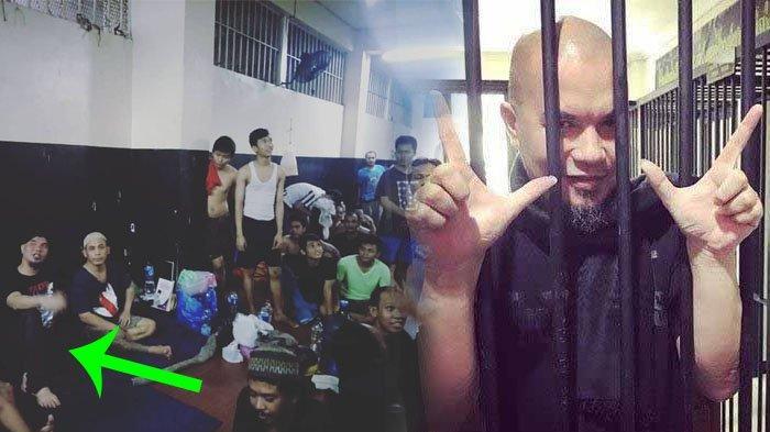 Beredar Foto Ahmad Dhani Duduk Dikelilingi Napi di Penjara hingga Video Detik-detik Jelang Penahanan