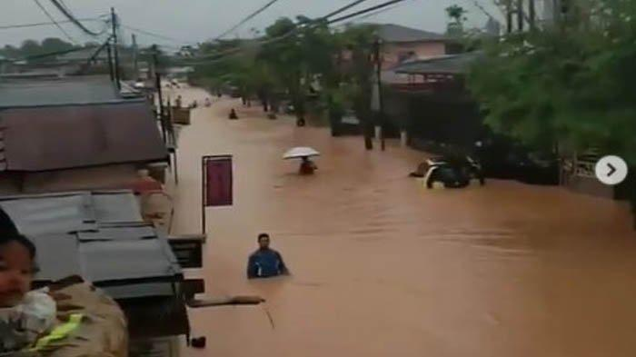 Kondisi Kalimantan Selatan saat diterjang banjir.