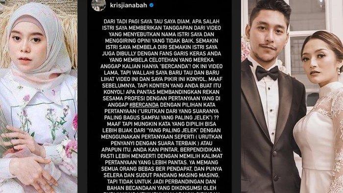 Konten Lesty Kejora dan Boy William kena semprot Krisjiana Baharudin, suami Siti Badriah