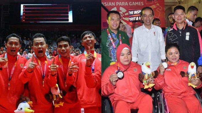 Selamat! Indonesia Peringkat 5 Asian Para Games 2018, Jumlah Medali Emas Lampaui Asian Games 2018