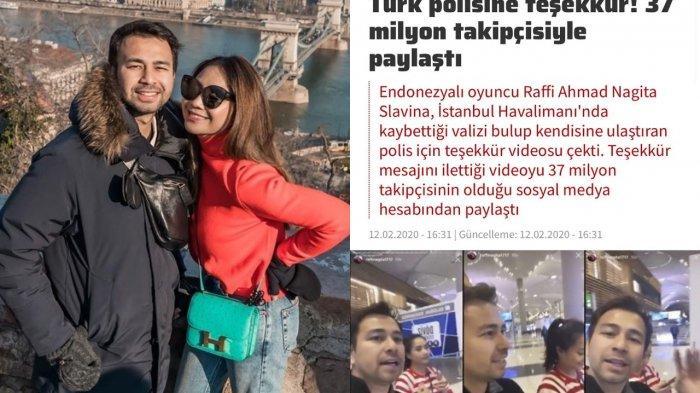 Kopernya Hilang, Raffi Ahmad Bantah Berita Media Turki, Ayah Rafathar Kantongi Identitas Pencuri