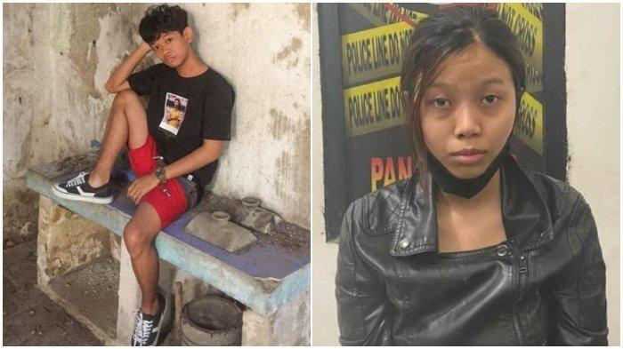 Korban pembunuhan, Ari Pratama (kiri) dan pelaku, Aisyah Alfika (kanan)