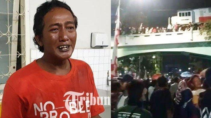 Putrinya Jadi Korban Tragedi Viaduk Surabaya Membara, Istrinya Juga Luka, Sahluki Beri Kesaksian Ini