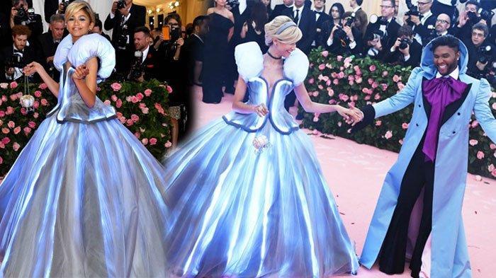 Rahasia di Balik Gaun Cinderella Zendaya yang Bisa Bercahaya di Met Gala 2019, Banyak Kabel Melilit