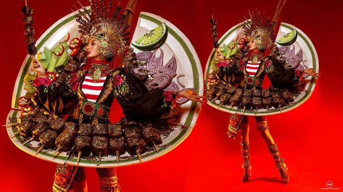 Kostum sate Aura Kharisma di Miss Grand International