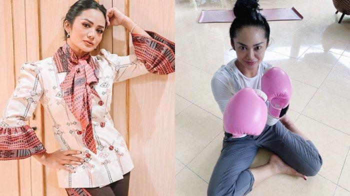 Awet Muda & Langsing di Usia 46 Tahun, Giatnya Krisdayanti Olahraga Angkat Barbel, Boxing & Wushu