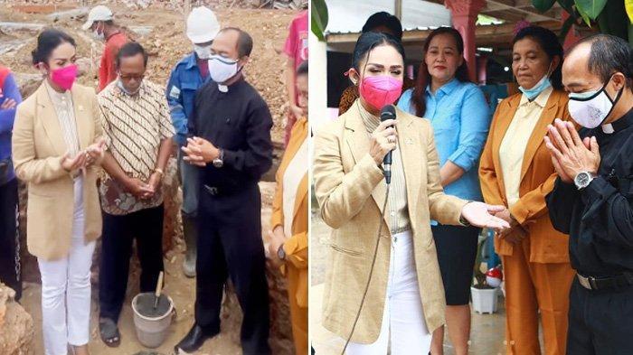 Niat Tulus Bantu Sesama Manusia, Krisdayanti Bangun Gereja di Malang, Nangis saat Didoakan Pastor