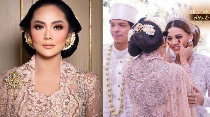 Krisdayanti di pernikahan Aurel Hermansyah dan Atta Halilintar.