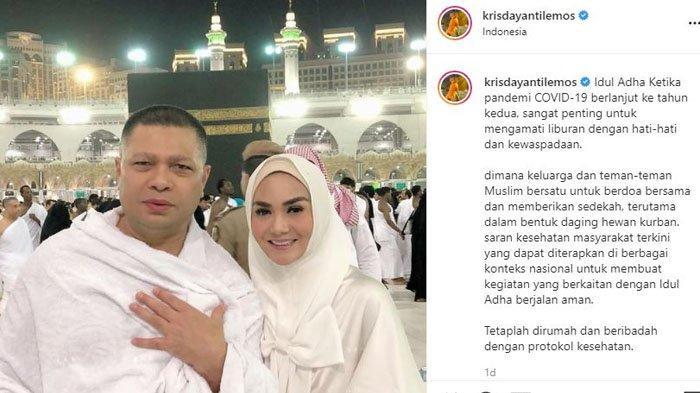 Krisdayanti rayakan Idul Adha tanpa sang suami