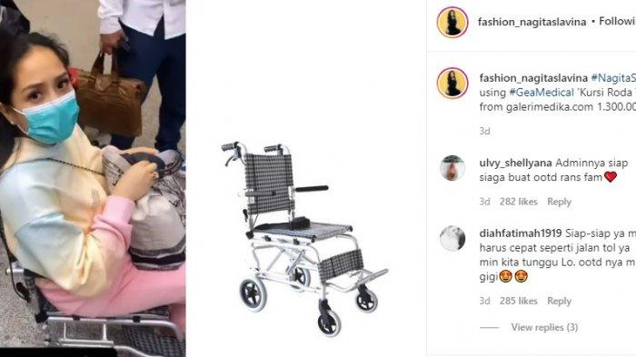 Kursi roda yang dipakai Gigi
