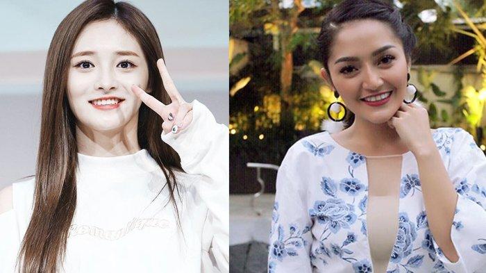 POPULER Dewi Perssik hingga Siti Badriah Beruntung Berwajah Mirip Idol Korea, Buktikan Kesamaannya!
