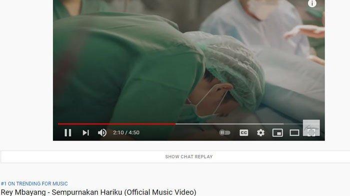 Lagu 'Sempurnakan Hariku' Duduki  Trending 1 YouTube, Rey Mbayang Bersyukur: Trending Itu Cuma Bonus