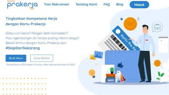 Situs Kartu Prakerja Bisa Diakses Mulai Hari Ini, Begini Cara Buat Akunnya di www.prakerja.go.id