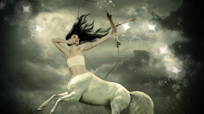 Ilustrasi zodiak Sagitarius.