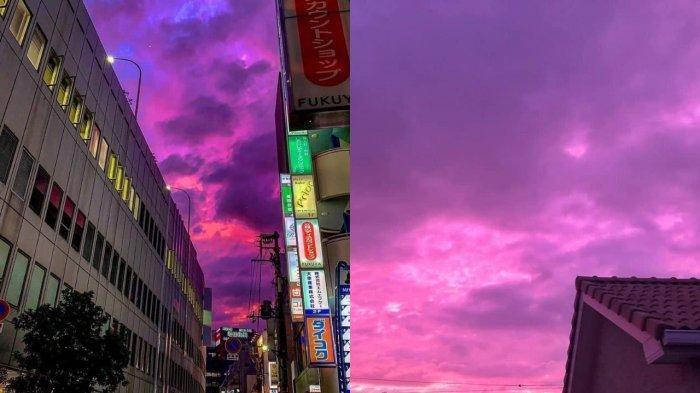 Fenomena Langit Jepang Berubah Jadi Merah Muda Sebelum Topan Hagibis Melanda, Simak Penjelasan Ahli