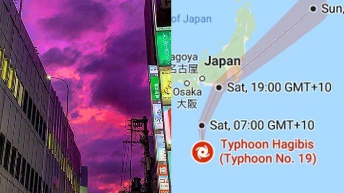 Topan Hagibis Landa Jepang, 'Pray For Japan' Trending, Netter Terpesona Penampakan Langit Merah Muda