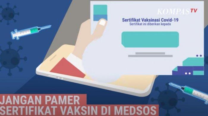 STOP Pamer Sertifikat Vaksin Covid-19 di Medsos, Menkominfo Ingatkan Bahayanya: Jangan Diedarkan!