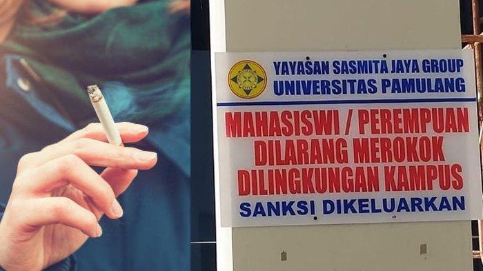 Viral Larangan Mahasiswi Merokok di Lingkungan kampus, Ini Klarifikasi Rektor Universitas Pamulang