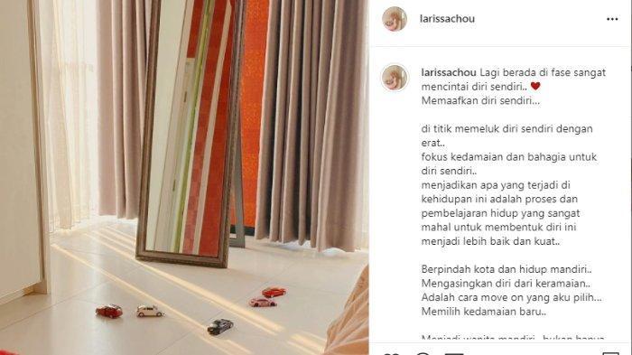 Larissa Chou beber cara move on dari Alvin Faiz dengan pindah kota.