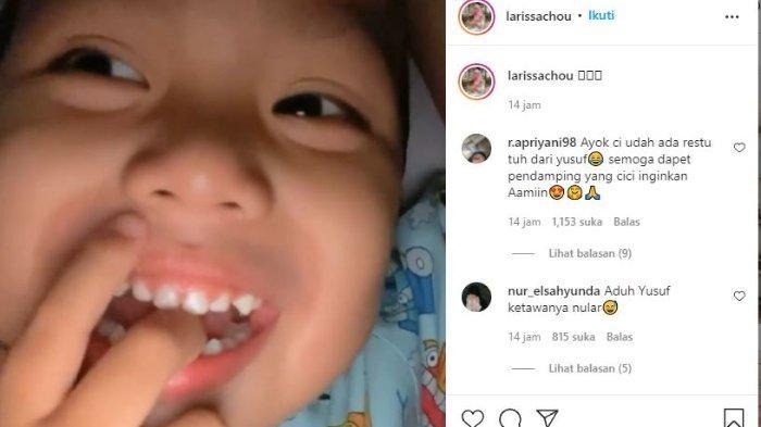 Larissa Chou kaget Yusuf minta papi baru.