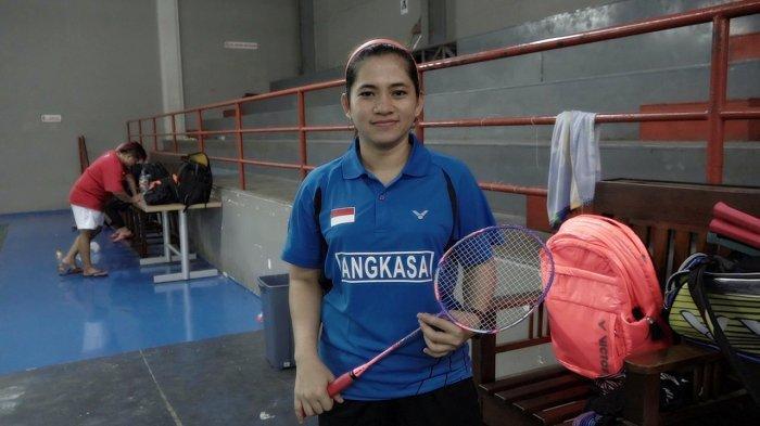Leani Ratri Oktila saat mengikuti pemusatan latihan Asian Para Games 2018 di GOR Sritex, Solo, Rabu (19/10/2018).