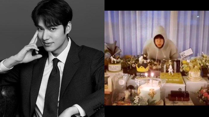 Dibanjiri Kado Ultah dari Fans, Tingkah Kocak Lee Min Ho saat Kesulitan Tiup Lilin Jadi Sorotan