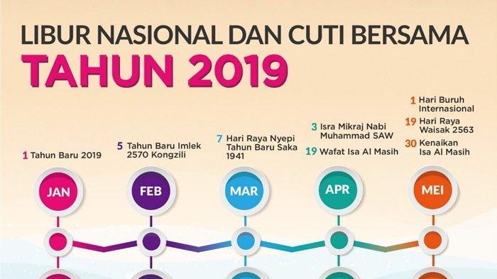 LENGKAP Rincian Jadwal Libur Cuti Bersama Lebaran 2019, Total 11 Hari!
