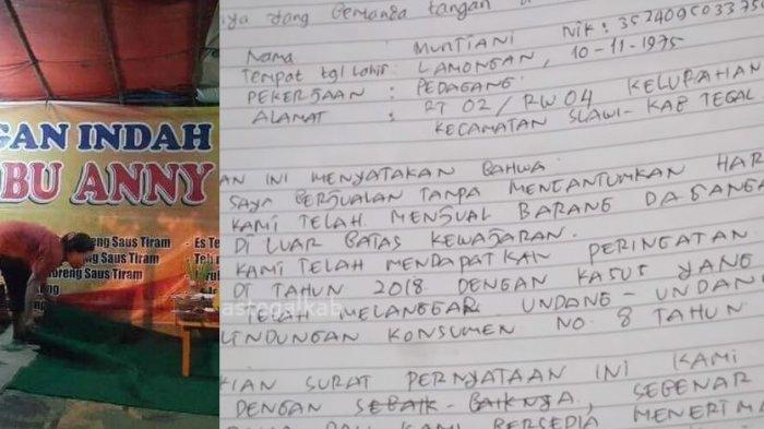 Viral Harga Tak Wajar Lesehan Bu Anny di Tegal, Korbannya Juga Pemilik Kontrakan Tempatnya Tinggal