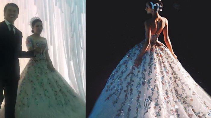 Lihat Detail Gaun Mewah Syahrini di Pernikahannya yang Sampai Bikin Susah Jalan!