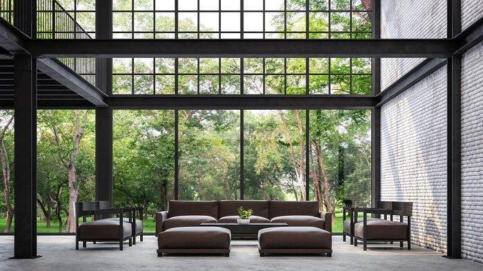Ilustrasi desain interior rumah.