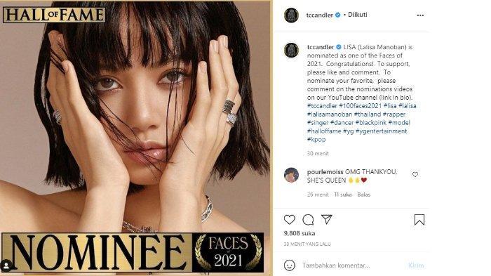 Lisa BLACKPINK juga masuk nominasi wanita tercantik dunia 2021 di tengah kabar resmi debut solo.